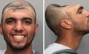 Police arrested a macro without half of his head!