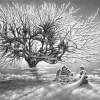 Winter Landscapes Drawn With a Pen