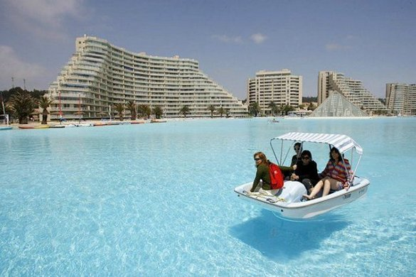 World s biggest swimming pool be amazed for The worlds biggest swimming pool