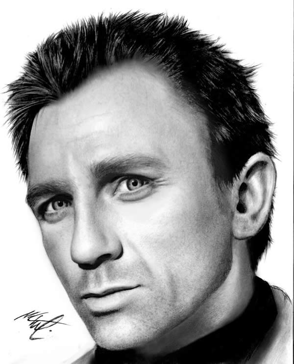 Portraits Of Famous People Drawn With A Pen